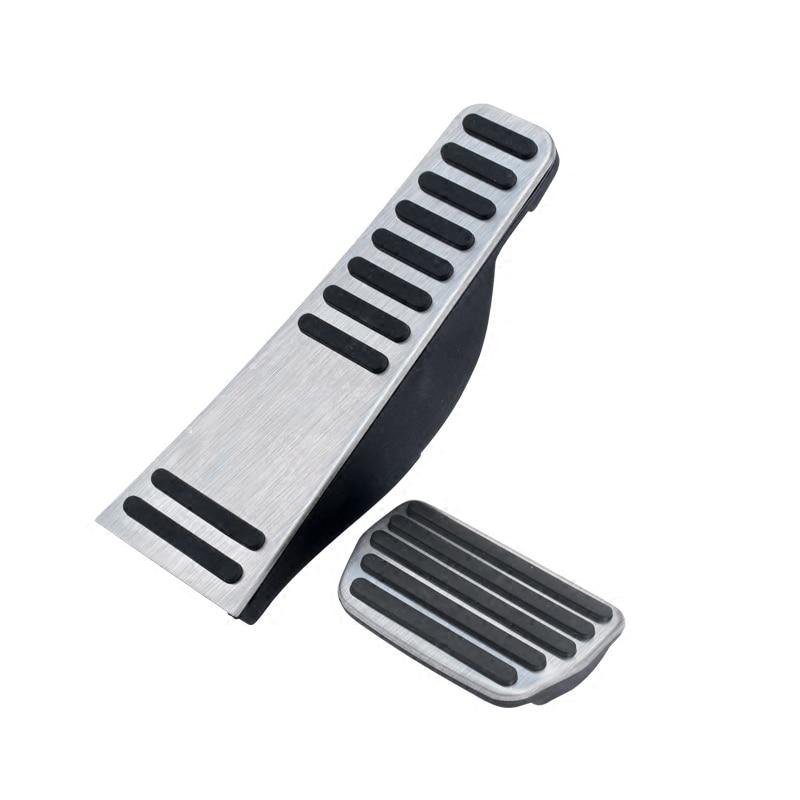 Для Volvo XC60 XC90- S90 V90 Нержавеющая сталь автомобиля акселератора подставка для ног, для езды на велосипеде педали тормоза крышка - Название цвета: AT 2pcs