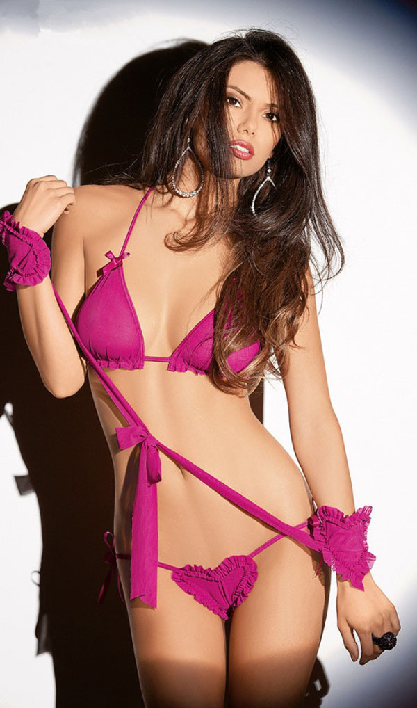 In exotic lingerie girls nude