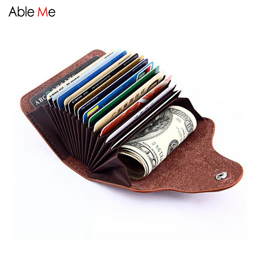 New 2017 Split Leather Hasp Credit Card Holder Functional Women ...