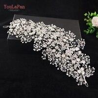 YouLaPan HP240 Alloy Flower Hair Accessories Handmade Rhinestones Hair Jewelry Wedding Accessories Bridal Headpiece