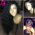 7A Afro Kinky Curly Wig Virgin Hair Brazilian Glueless Full Lace Human Hair Wigs For Black Women Kinky Curly Lace Frontal Wigs