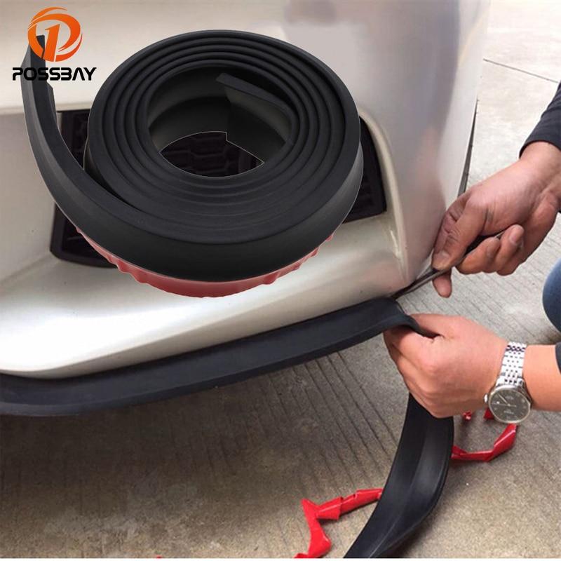 POSSBAY Universal Car Body Bumper Door Guard Protector 2.5m Side Door Edge Strip Trim Moulding Strap Auto Accessories