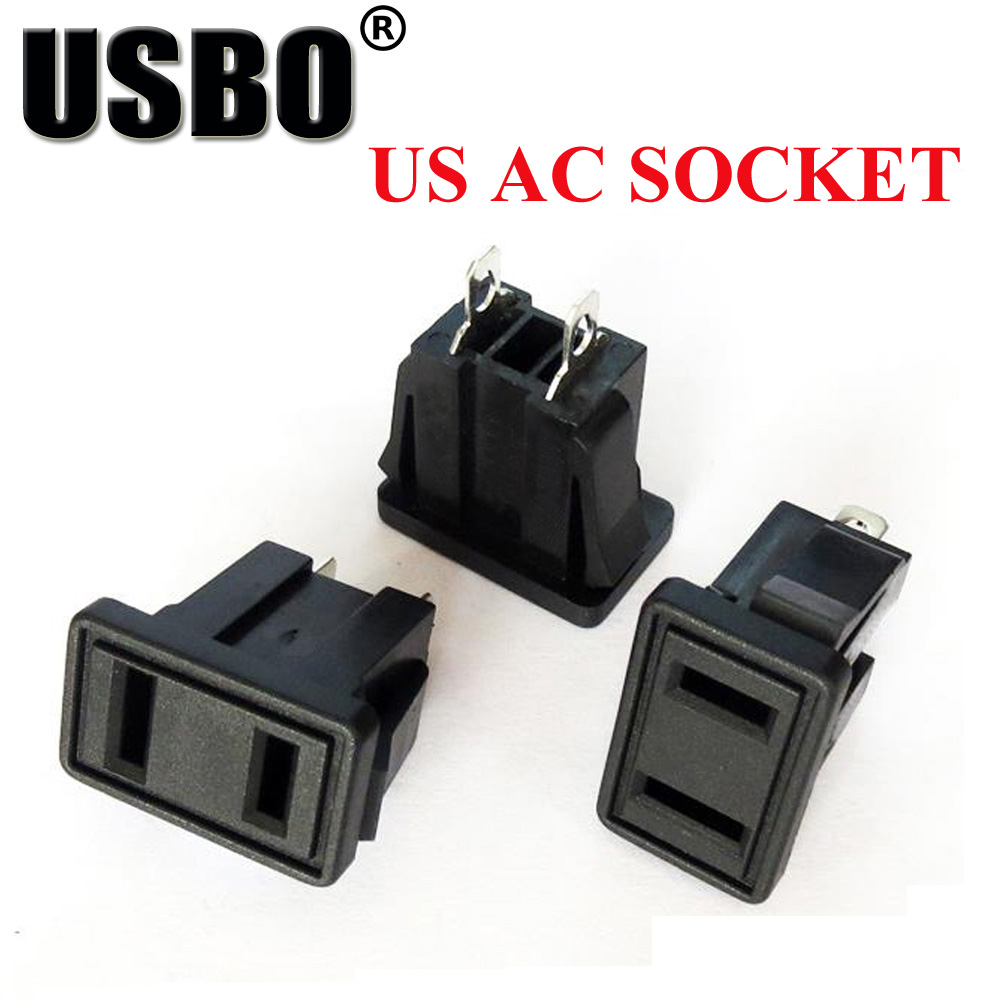 100pcs Black Power Outlet Socket Accessories Ac 10a250v For Electric Wiring Vehicle Computer Industrial Plug