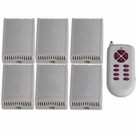 433MHz 2CH 220V 150m Remote Control Self lock 12 Key Switch 6 Receiver