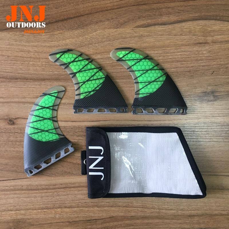 JNJ brand new strongest fiberglass carbon future Tri set M G5 fins for surf board future