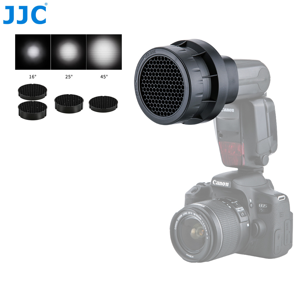 JJC Flash Light Honeycomb Grid Photographic Speedlight Photo Studio Accessories for CANON 580EX II/600EX RT/YONGNUO YN-600EXII недорго, оригинальная цена