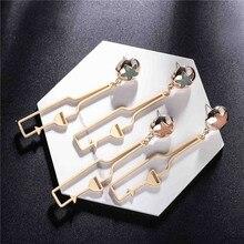 Creative Hollow Metal Enamel Star Cute Wine Bottle Cup Goblet Earrings Funny Personality Stud Women Jewelry