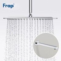 Frap Shower Head Square Ducha Ultra thin Large Rainfall Shower Head Rain Shower With Shower Arms Bathroom Hardware Y81019+F28 3
