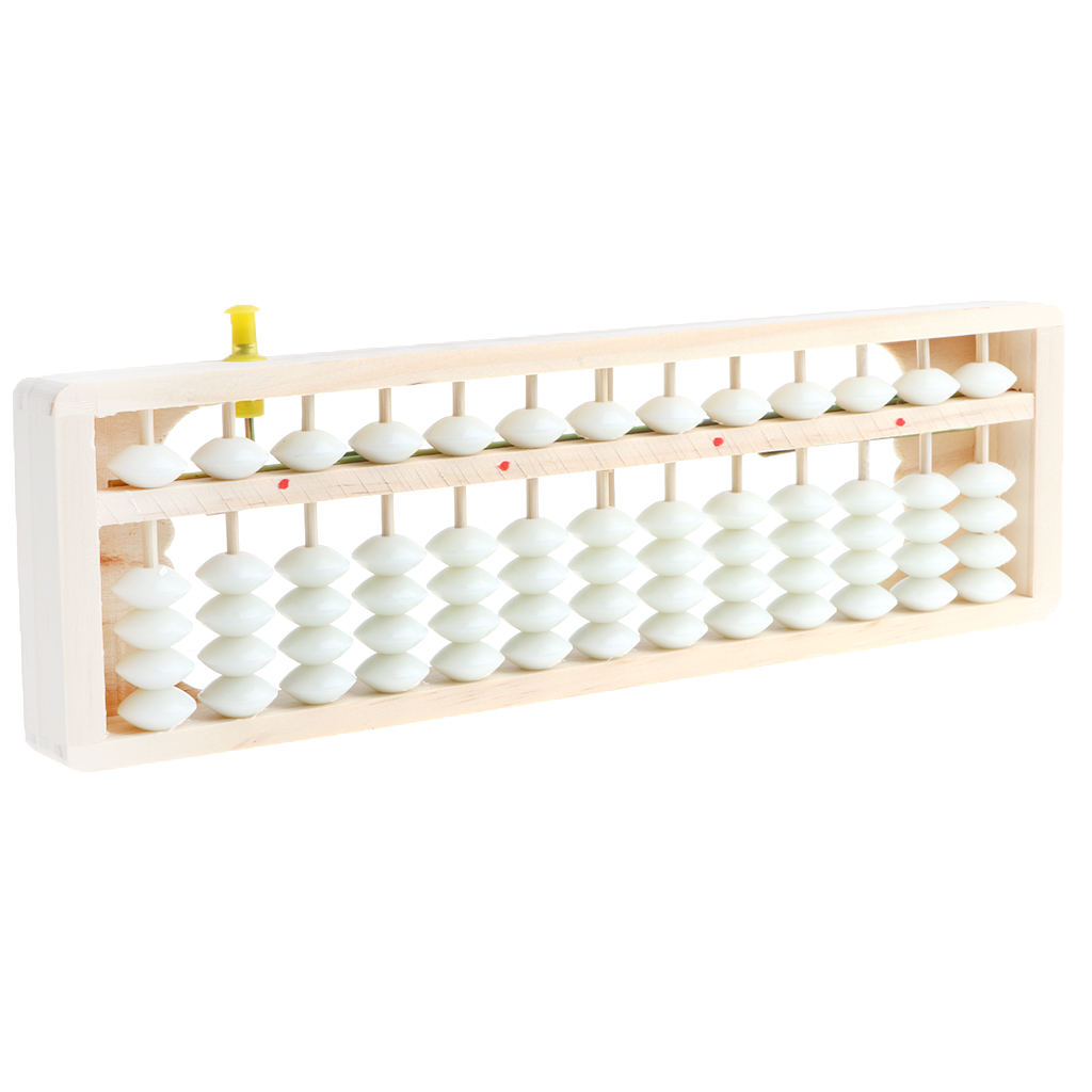 Arithmetic 13 Digits Abacus - 13 Rods 5 Beads Counting Math Number Mathematics Student Teaching Aids Toys with reset button Gift