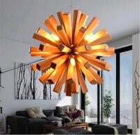 Art Decoratie Houten Paardebloem Hanglamp Creatieve Hanger Lampen Woonkamer Restaurant Bar Armatuur Verlichtingsarmaturen|light fixtures|pendant lamplamp living -