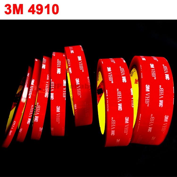 1Roll (5mm~50mm Wide Choose) 3Meter Long Clear 3M VHB 4910 Heavy Duty Double Sided Adhesive Acrylic Foam