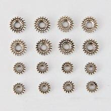 Бусины разделители в форме колес посеребренные бусины россыпью