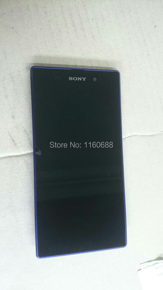 Purple frame+lcd display screen+touch glass digitizer assembly for sony xperia z1 l39h c6903 c6902 c6906 c6943  free shipping 1 pcs l39h black lcd display touch screen digitizer assembly for sony xperia z1 l39h c6902 c6903 free shipping