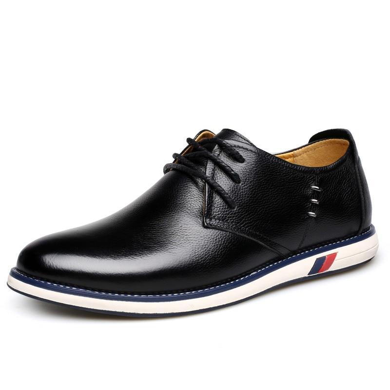 Tênis 2a Couro Qualidade Casuais Sapatos De Até Oxford Homens Estilo Britânico azul amarelo Marinho Preto Genuíno Alta Apartamentos Rendas Dos ZOSgxw