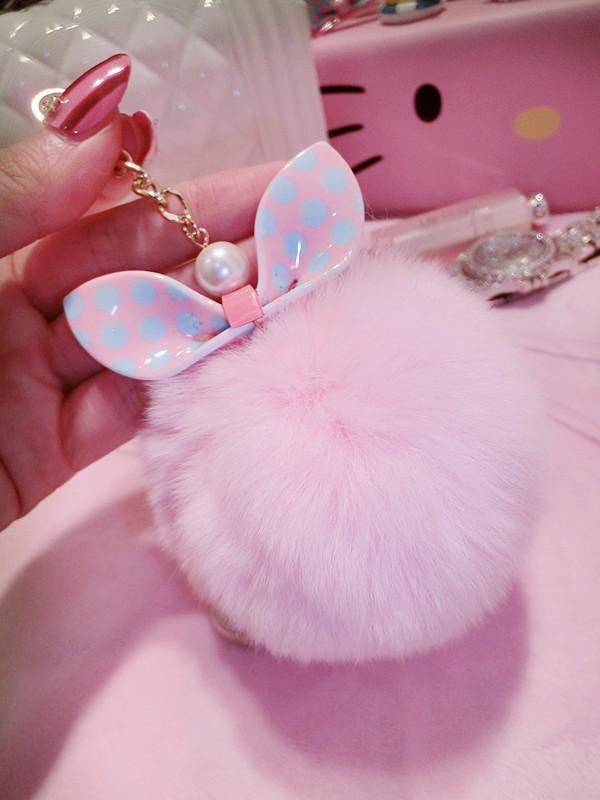 HTB1aIXaLXXXXXcgXVXXq6xXFXXXr - for iphone 5 5s SE 6 6s 7 plus Cute 3D Bling Diamond Rabbit ear Fur ball Pompom Tassel Soft Case PTC 218