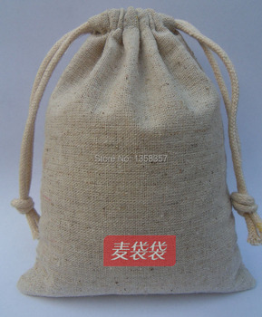 (100pcs/lot)High quality jute/linen/flax drawstring jewerly bag for accessory/ring,Size can be customized,many colorswholesale