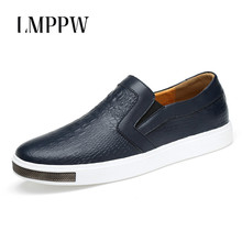 British Style Men's Leather Shoes Sneakers Breathable Genuine Leather Men Loafers Slip on Men Flats Casual Shoes Driving Loafers alligator genuine leather men shoes casual breathable men loafers slip on high quality