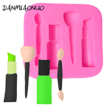 DANMIAONUO Cosmetic Mold Silicone Soap Cutter Chocolat Baking Accessories Fondant Lipstick Shape Cake Tools A92075