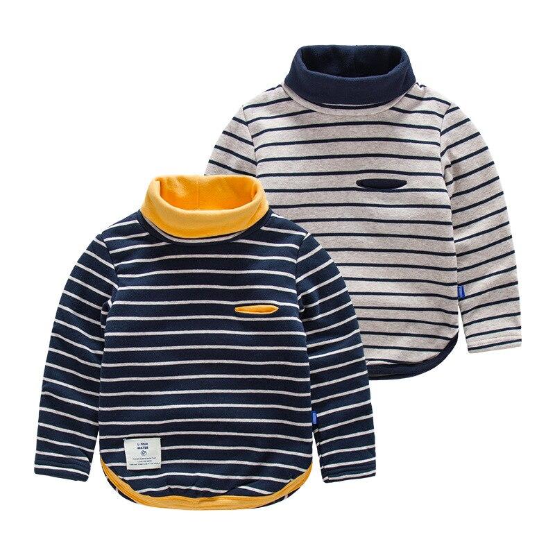 Children Stripe Turtleneck T Shirt Boy 39 S Wool Warm T Shirt