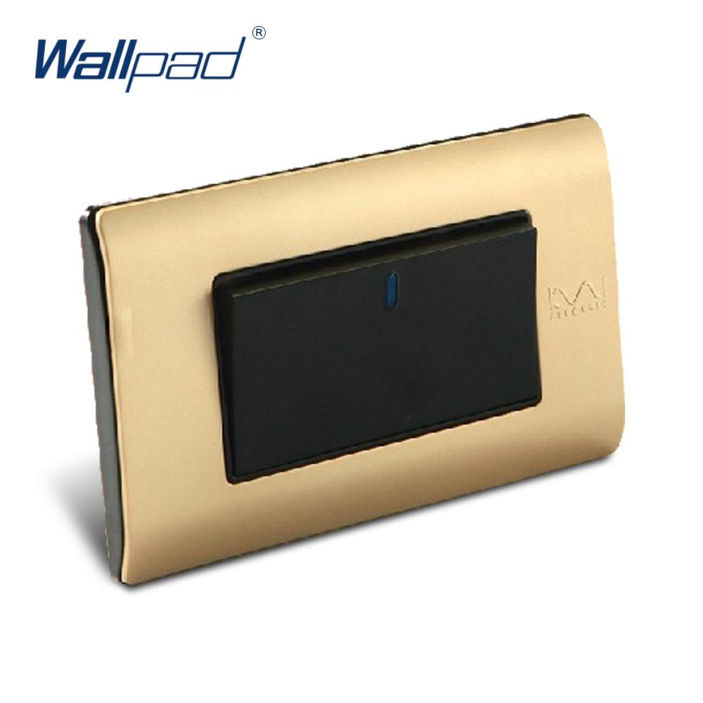 Free Shipping, Wallpad Luxury Wall Switch Panel, 1 Gang 2 Way Switch, Plug, Socket, 118*72mm, 10A, 110~250V  free shipping wallpad luxury wall switch panel 6 gang 2 way switch plug socket 197 72mm 10a 110 250v