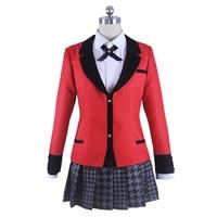 Kakegurui Compulsive Gambler Costume Jabami Yumeko Momobami Kirari School Uniforms Cosplay Costume