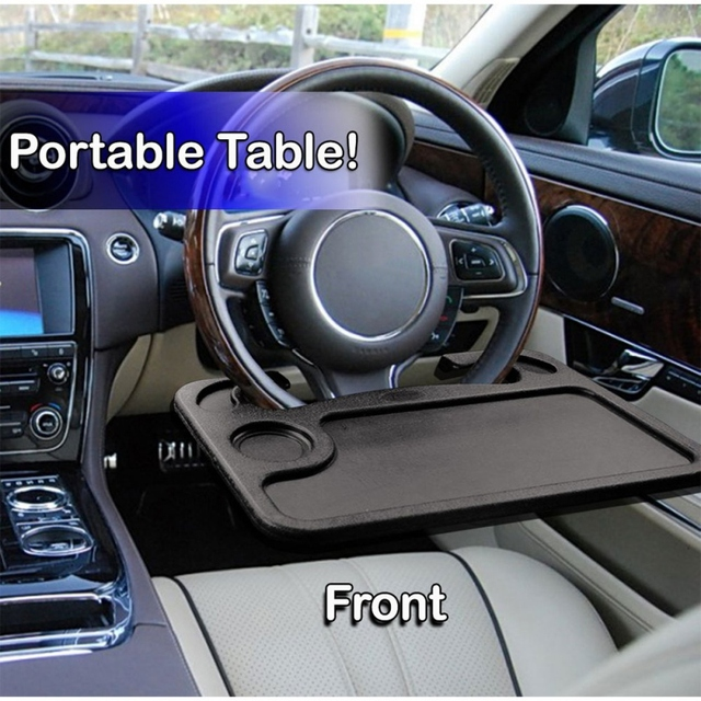 New Portable Car Desk Laptop Computer Table Steering Wheel Eat Drink Work Holder Seat Tray Stand 1