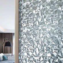 60*200cm 3D Crystal Window Privacy Film Glass Sticker electrostatic Self-adhesive Decorative Frosted office door Home Decor