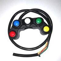 5 Кнопка МОТОЦИКЛ Переключатель/переключатели 7/8 22 мм руль/фонари/на кнопку выключения водонепроницаемый