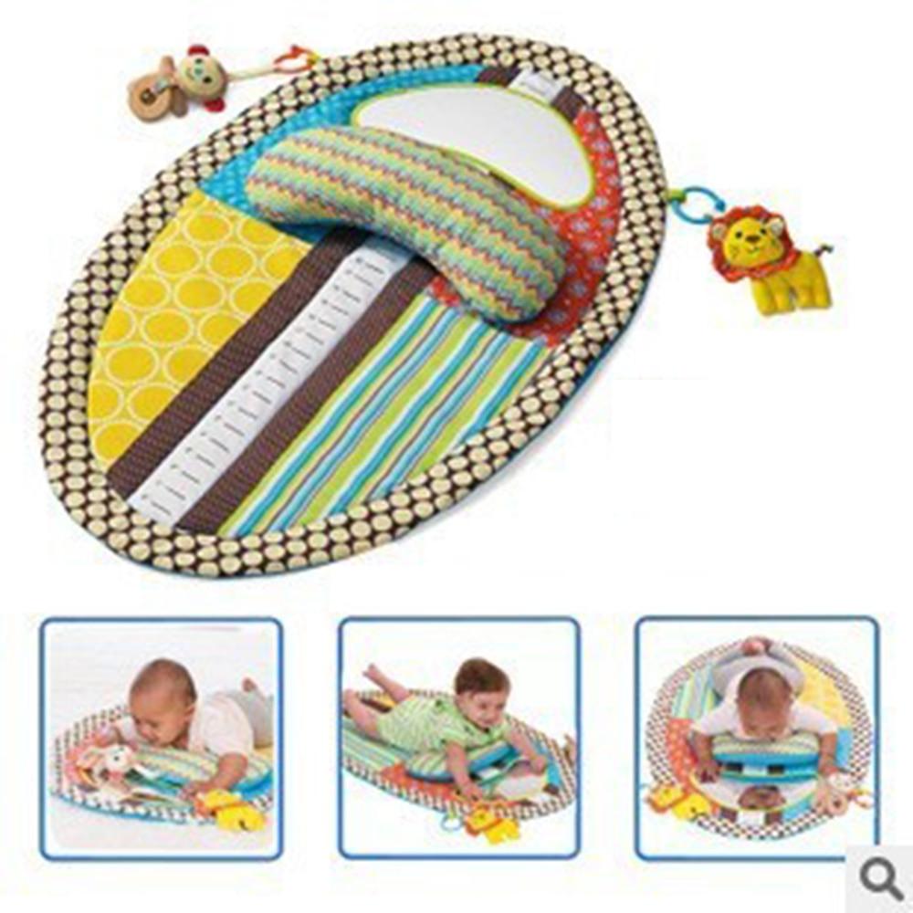 בייבי צעצוע תינוק מוקדם למידה & חינוך משחק שמיכה בייבי לשחק מאטס כרית עם מראה צעצועים מוזיקלים 0-12 חודשים ידידותית לסביבה