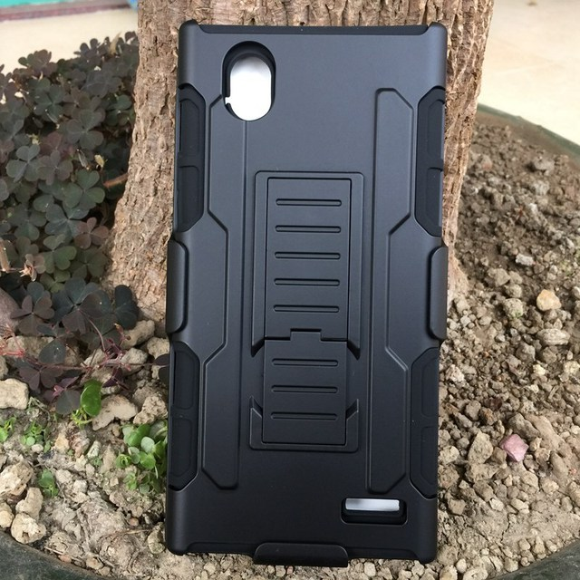 Impact Hybrid Rugged Shockproof Heavy Duty Robot Armor Cell Phone Case Cover For ZTE Warp Elite N9518 With Holster Belt Clip