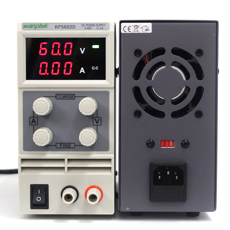 Wanptek KPS603D 60V 3A 0.1V 0.01A Single Channel adjustable SMPS Digital DC power supply,Switching power supply free shipping cps 6011 60v 11a digital adjustable dc power supply laboratory power supply cps6011