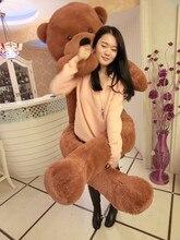 the biggest bear toy plushed toy cute big eyes bow stuffed bear toy teddy bear birthday gift dark brown 200cm