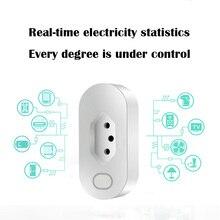Brasil sản phẩm nhà Thông Minh điều khiển từ xa thông minh sản phẩm WIFI thông minh tự động hóa quy định hàng cắm Brasil Đồng hồ đo WIFI cắm