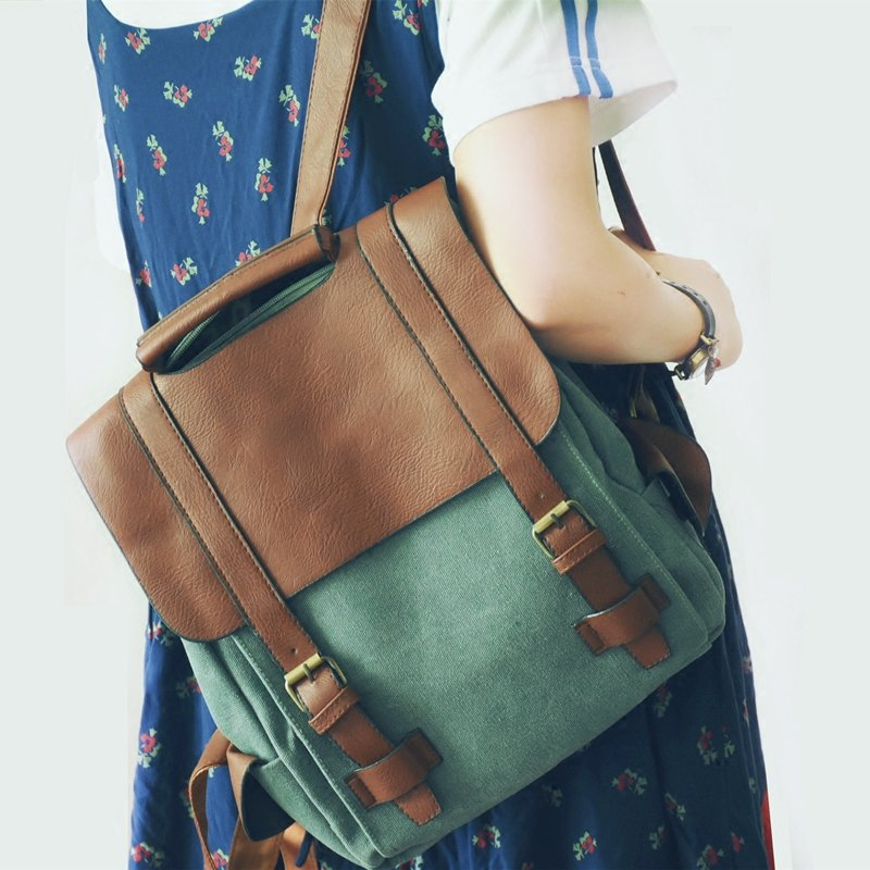 Vintage Women Leather back pack Canvas Backpacks School Bags For Teenage Girls High Quality Mochilas Escolares Women Backpack canvas floral print backpacks shoulder bags for girls school bags black summer brand vintage backpack mochilas mujer d38j16
