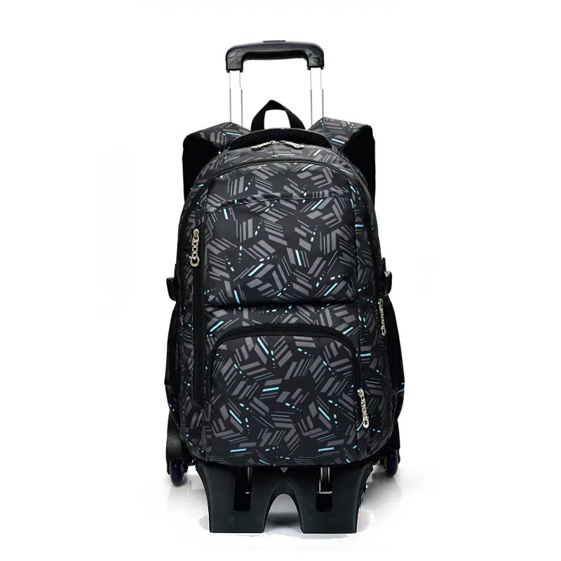 Nylon Waterproof Rolling Backpack High Capacity Carry-on Luggage for Boys Color : A, Size : 32/×18/×49cm Travel Wheeled Backpack with Side Pocket