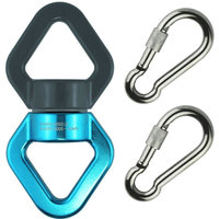 Swing Swivel Safest Rotational Device Hanging Accessory 30KN Swing Swivel with Two Carabiners