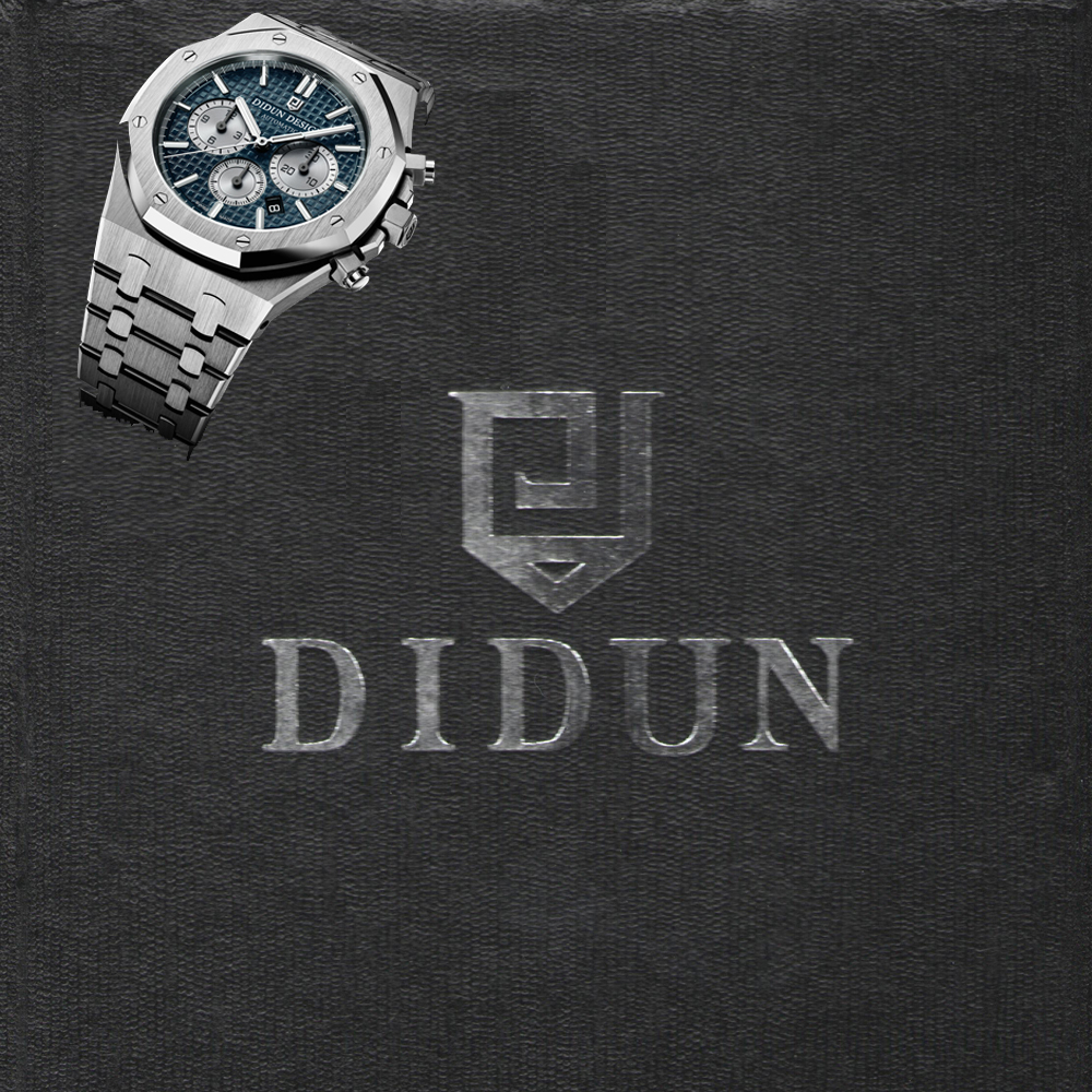Mens Watches DIDUN Top Brand Luxury Waterproof Date Clock Male Steel Strap Casual Quartz Watch Men Sports Wrist Watch didun watches men luxury brand watches mens steel quartz watches men diving sports watch luminous wristwatch waterproof