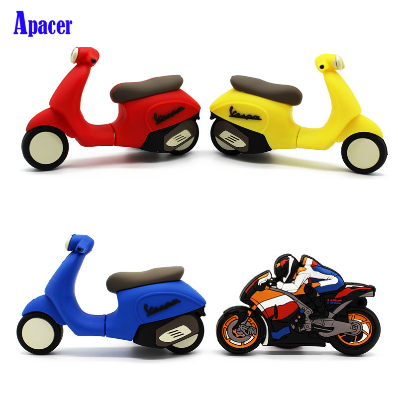 Apacer motorcycle pen drive 4gb 8gb 16gb 32gb moto car usb flash drive eldan отбеливающий очищающий гель 250 мл