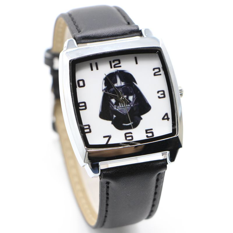 Star Wars Children Cartoon Cute Kids Lady Watch Fashion Casual Digital Style Quartz Leather Watches Relojes 1pcs