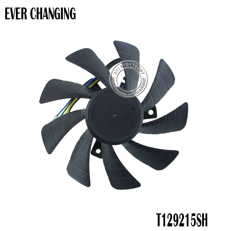 85MM T129215SH DC12V 0.30AMP 4PIN Graphic Card Cooling Fan for Zotac GeForce <font><b>GTX</b></font> <font><b>1060</b></font> 3GB itx <font><b>mini</b></font> image