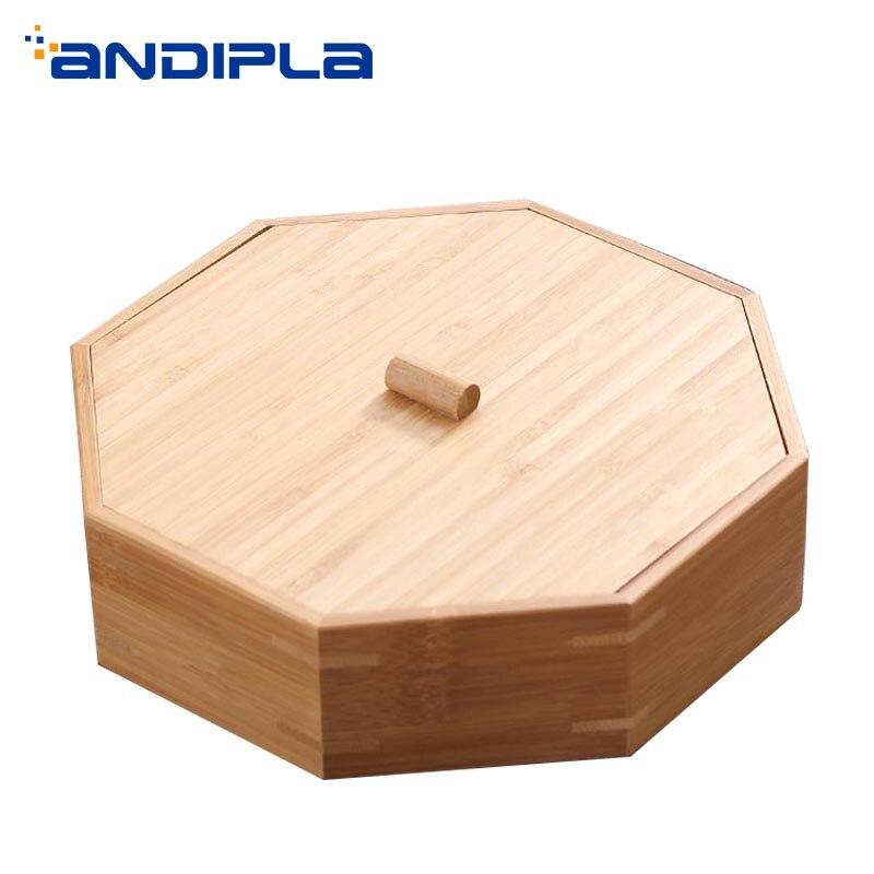 Teaware De Stockage boîte avec couvercle Kit Naturel Bambou boîtes à thé Tasse De Thé Titulaire Puer Séparateur Caddies cérémonie du thé Accessoires Décor