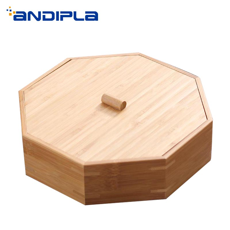 Teaware boîte de rangement avec couvercle Kit naturel bambou boîtes à thé porte-thé Puer séparateur Caddies thé cérémonie accessoires décor