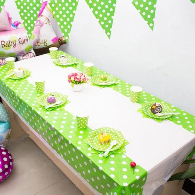 New Disposable Plastic Table Cloth Cute Patterns Cover Tablecloth For Kids Birthday Party Decoration 108 180cm 254199