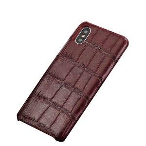 Image 3 - LANGSIDI Luxury Original Crocodile phone case for iphone 12 pro 12 mini X XS max XR 7 8 plus SE 2020 for iphone 11 pro max