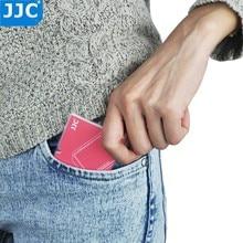 JJC soporte para tarjeta de memoria SD/Micro SD/tarjeta de memoria TF, caja de almacenamiento con asa para Canon, Nikon, Sony, Olympus, Pentax, Panasonic, Fujifilm