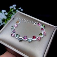 SHILOVEM стерлингового серебра 925 натуральный турмалин браслеты новый ювелирные украшения для женщин Свадебные модный оптовая продажа вечерни