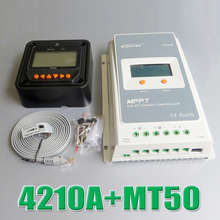 Tracer 4210A EPsloar 40A MPPT Solar system Kit Controller 12V 24V LCD Diaplay EPEVER Regulator with MT50 Meter