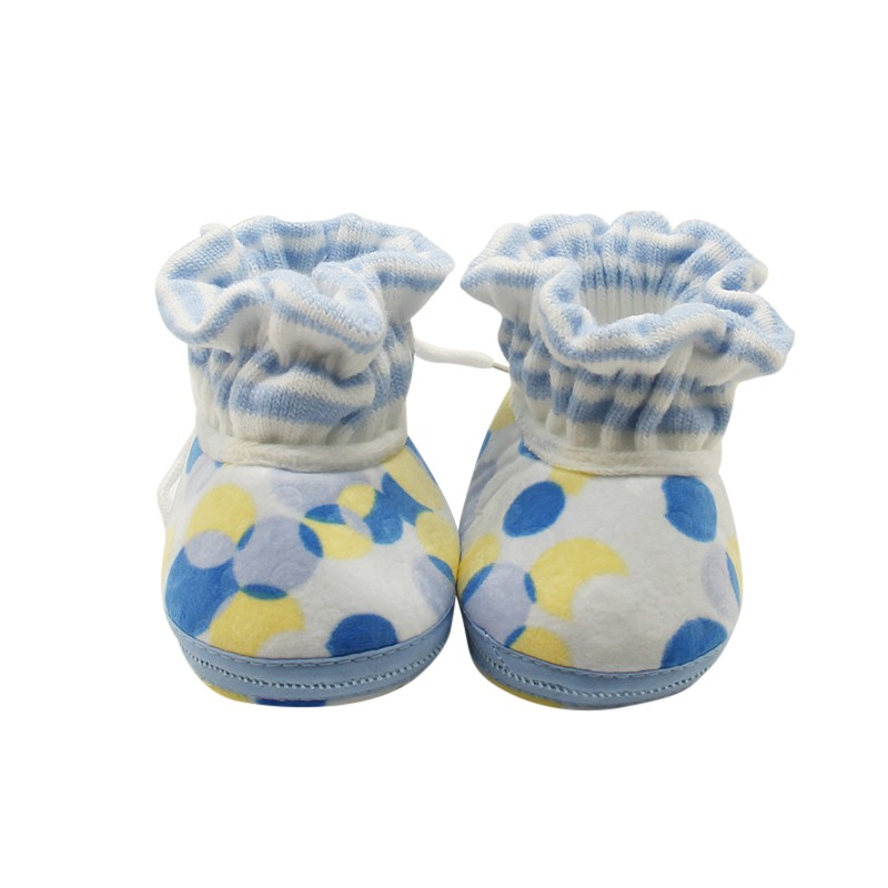 2017 New Kawaii Baby Boys Girls Snow Printed Shoes Baby Pure Cotton Warm Feet First Walker