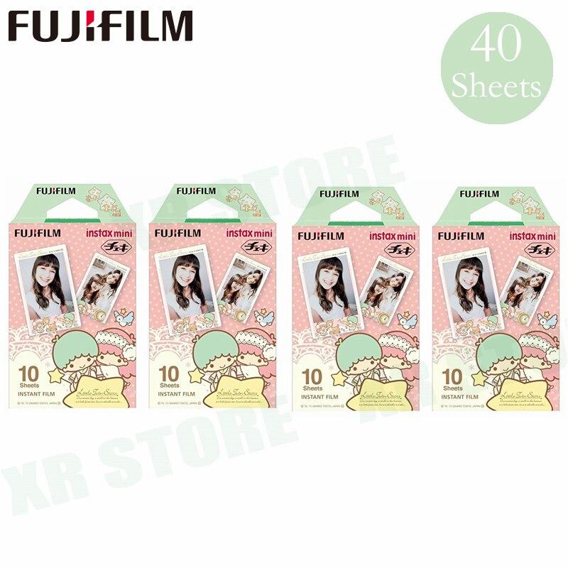 Fujifilm Instax Mini 8 9 Film petites étoiles jumelles Fuji papier Photo instantané 40 feuilles pour 70 7 s 50 s 50i 90 25 partager SP-1 2 appareil Photo