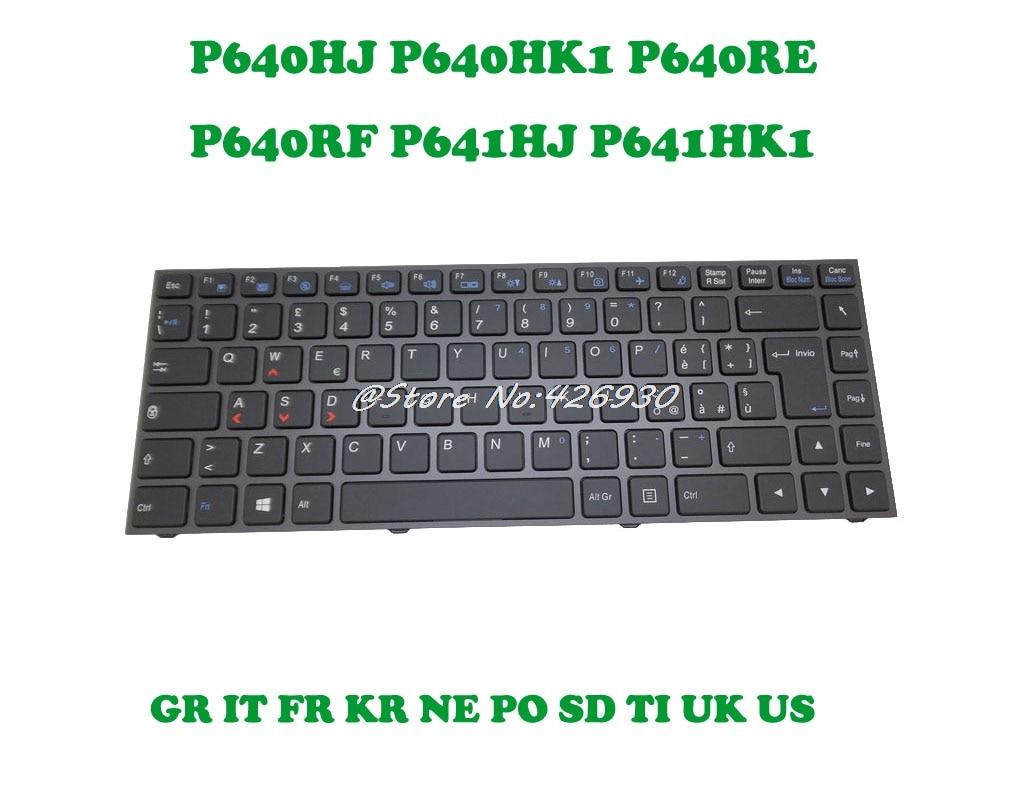 Keyboard For CLEVO P640HJ P640HK1 P640RE P640RF P641HJ P641HK1 Sweden SD Portugal PO Nordic NE Korea
